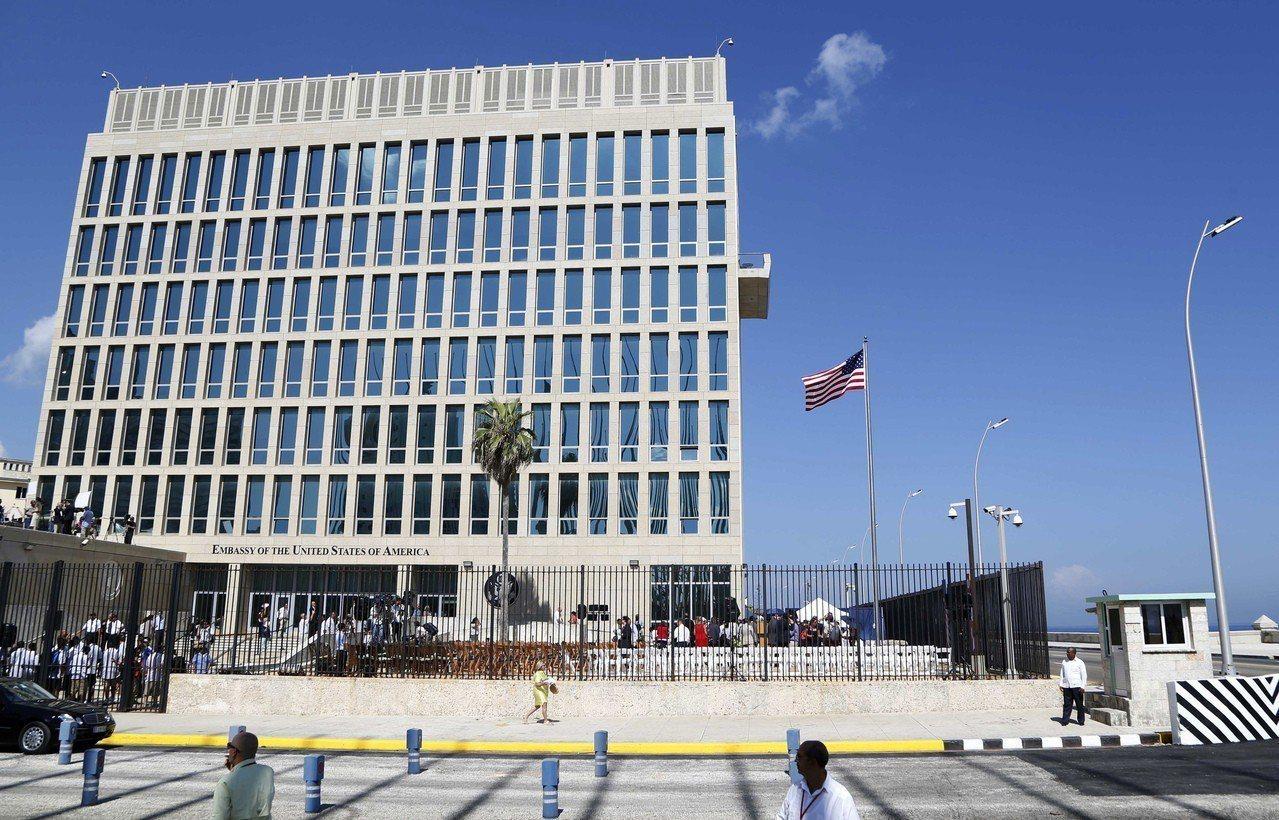 古巴首都哈瓦那的美國大使館。美聯社