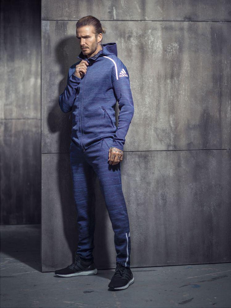 大衛貝克漢演繹adidas全新Z.N.E. 3.0系列服飾。圖/adidas提供
