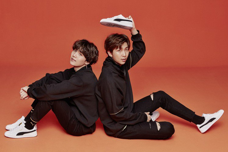 PUMA與BTS防彈少年團再度攜手,推出全新聯名鞋款。圖/PUMA提供