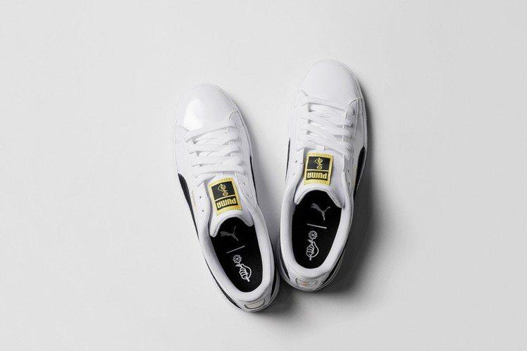 PUMA與BTS防彈少年團聯名鞋款,約2,980元。圖/PUMA提供