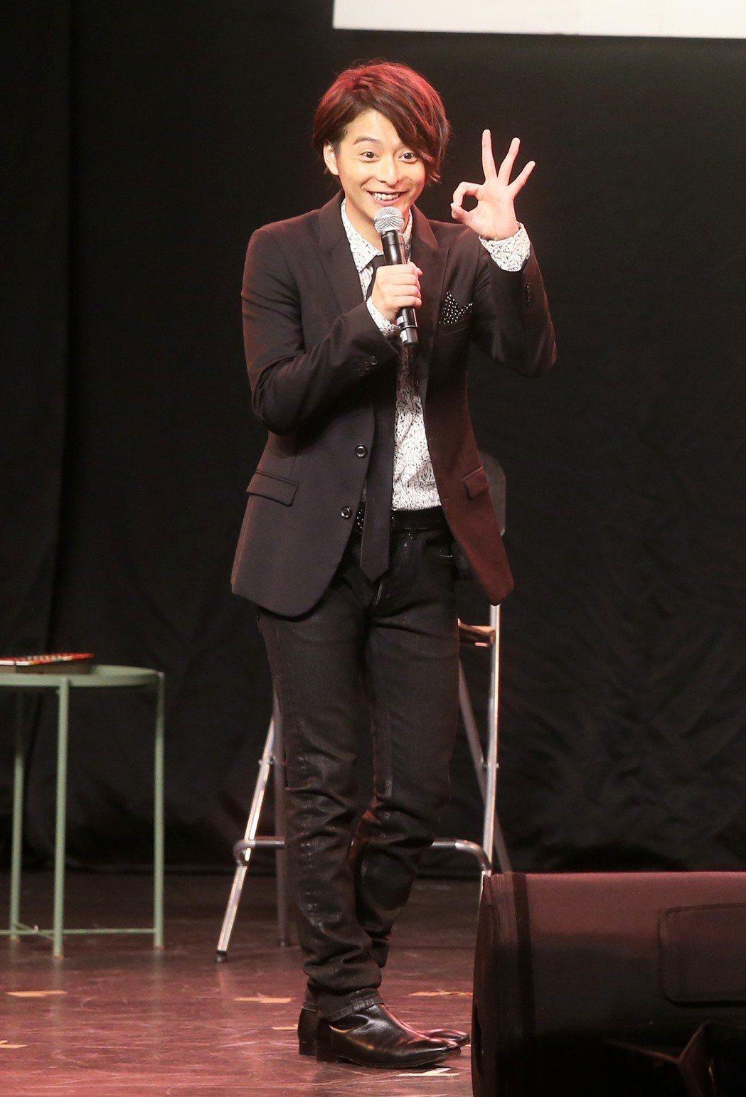日本男星小池徹平今天在NEO STUDIO連辦兩場粉絲見面會。記者胡經周/攝影