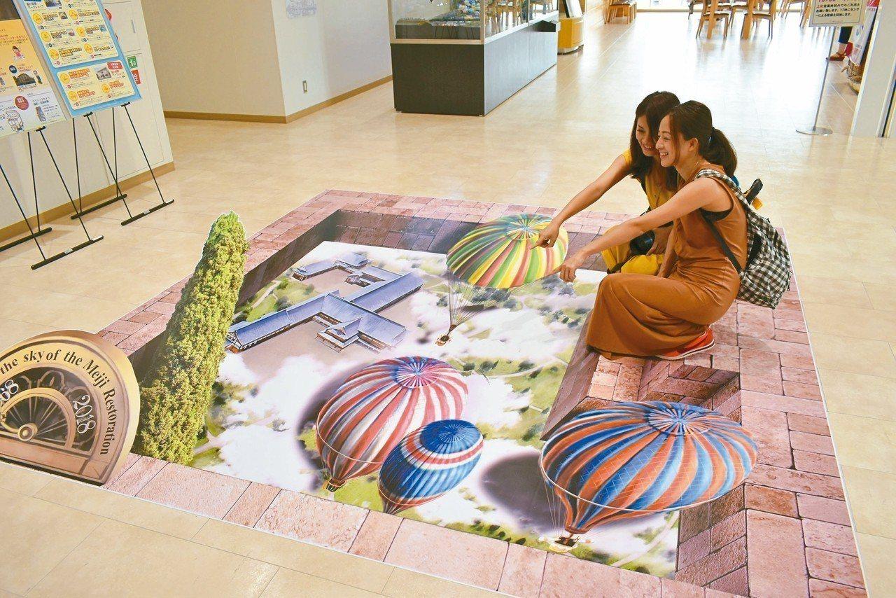 熱氣球博物館還有3D繪圖,角度取得好,就能和熱氣球合影。 記者魏妤庭/攝影