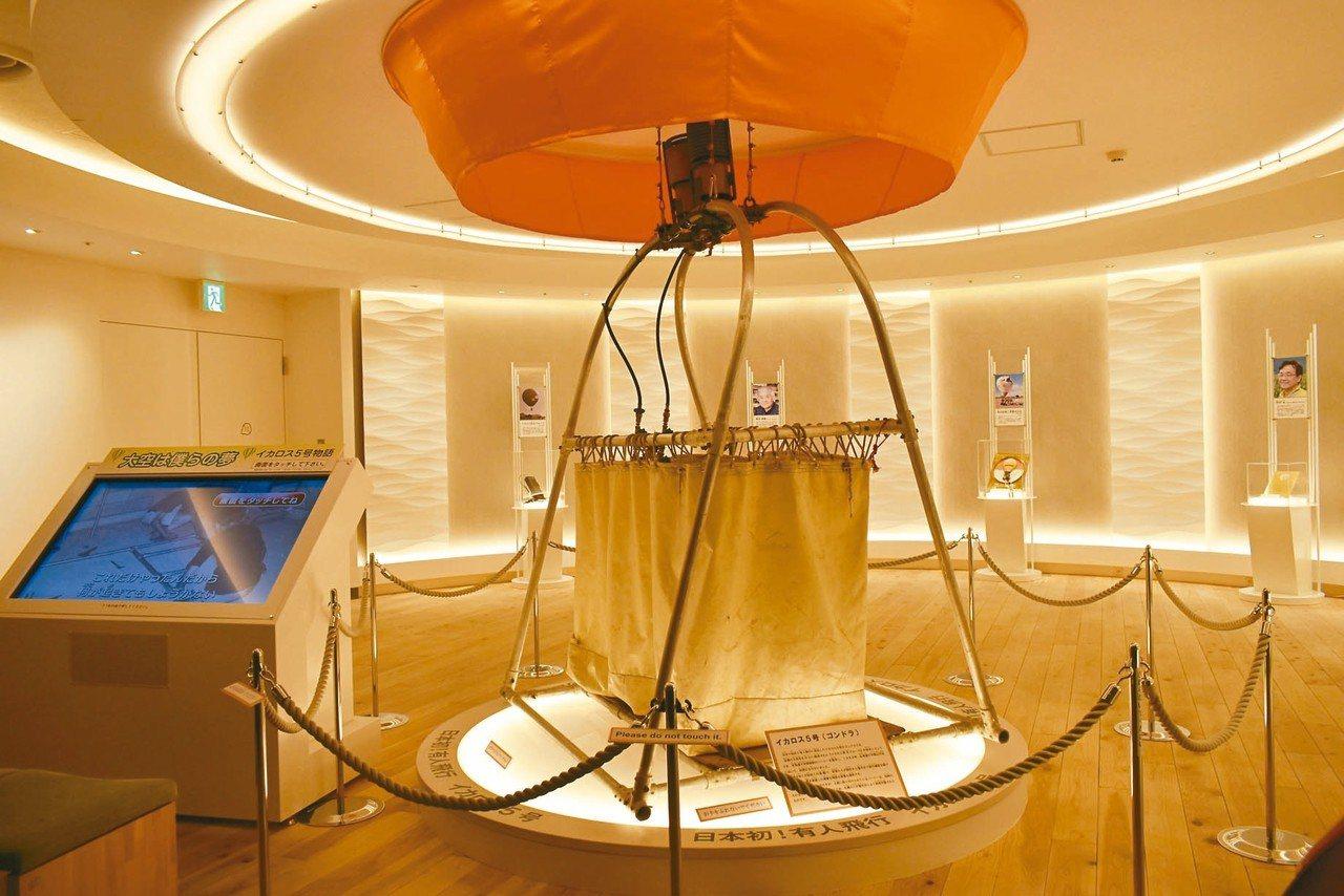 熱氣球博物館中設置多種熱氣球相關設施,讓遊客更了解熱氣球的運作及歷史。 記者魏妤...