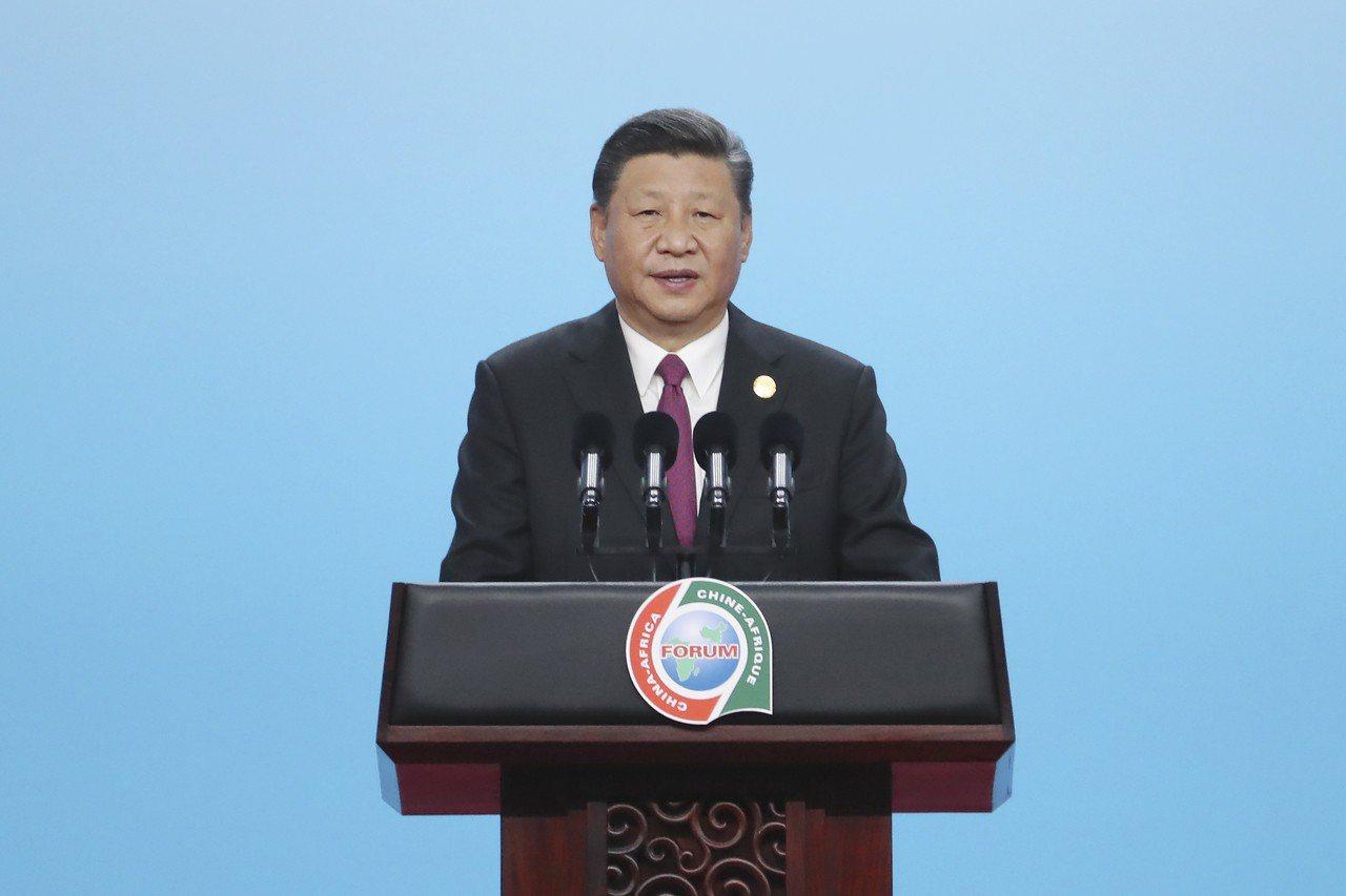 9月3日,中國國家主席習近平在北京國家會議中心出席中非領導人與工商界代表高層對話...