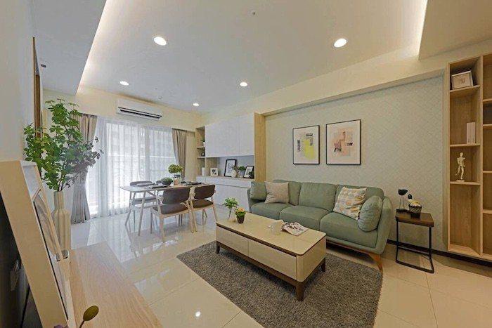 「微笑台北」自備66萬元輕鬆買優惠方案,購屋再送名牌家電丶傢具丶輕裝潢等好禮。圖...