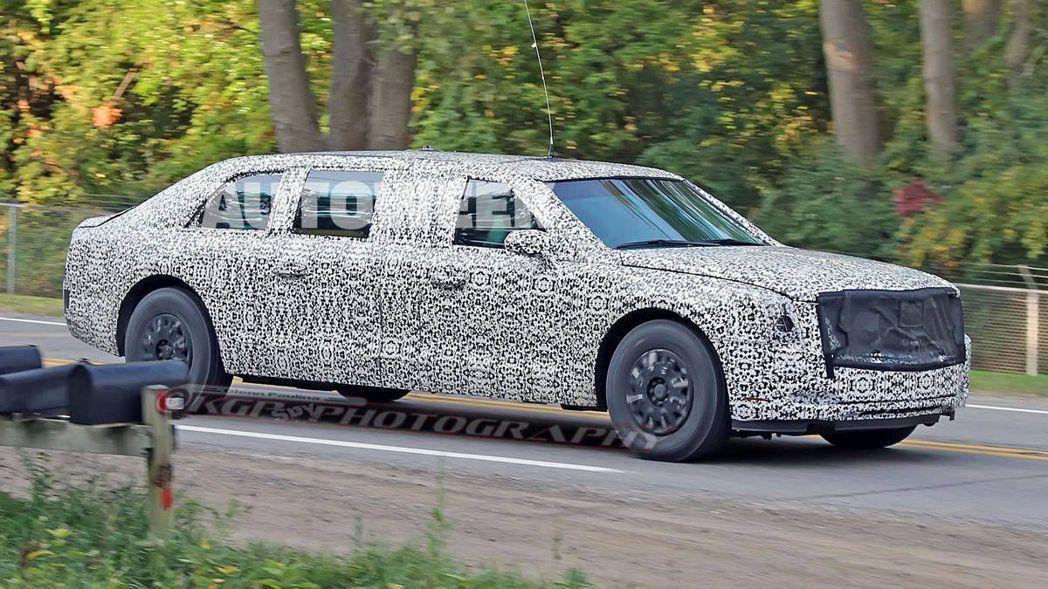 川普新座車「The Beast 2.0」現正測試中。 摘自autoweek