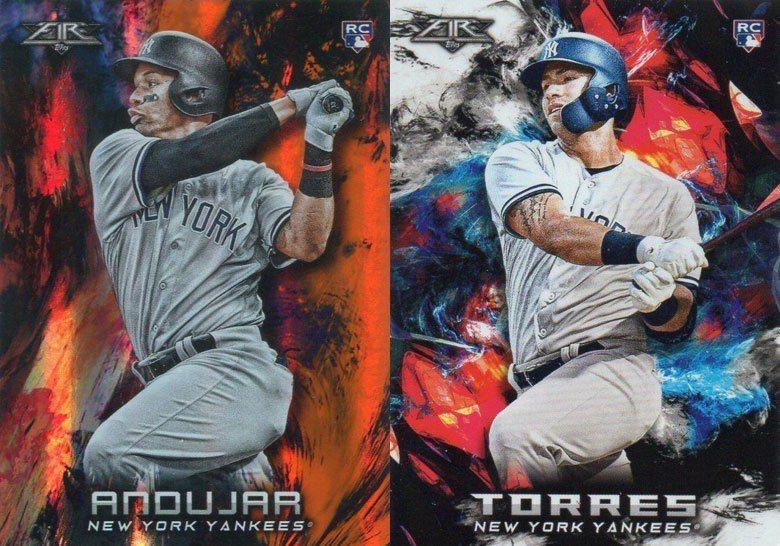 洋基新秀托瑞斯(右)與安都哈(左)本季都有相當優異的打擊表現。 2018 Top...