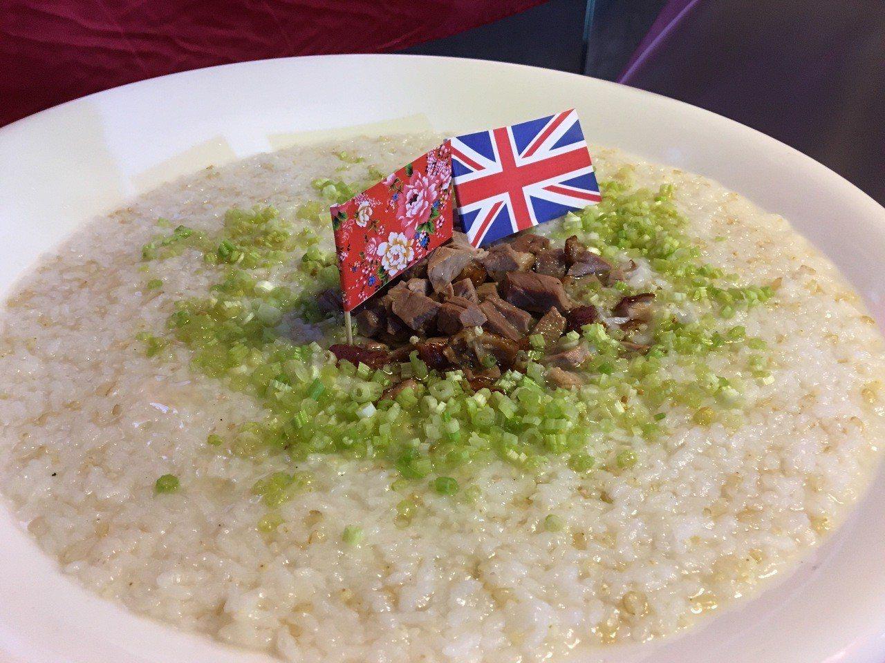 米香四溢的鴨汁小米粥。記者徐庭揚/攝影