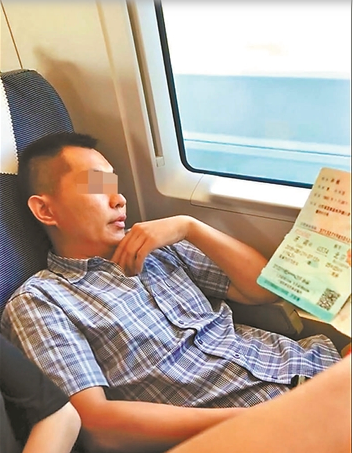 大陸官方出手了,「霸座男」孫赫180天內被限制乘坐所有火車席別。圖/取自網路