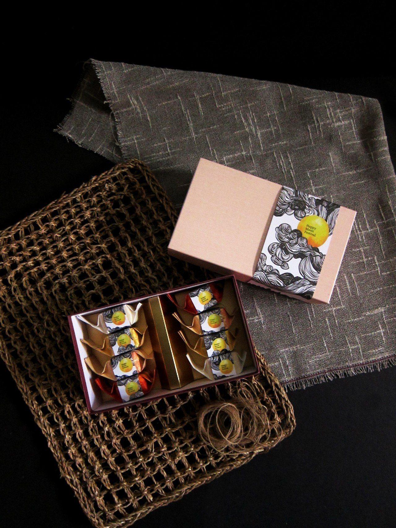 秋之樂章禮盒,鳳梨酥8入,售價380元。圖/溫德德式烘焙餐館提供