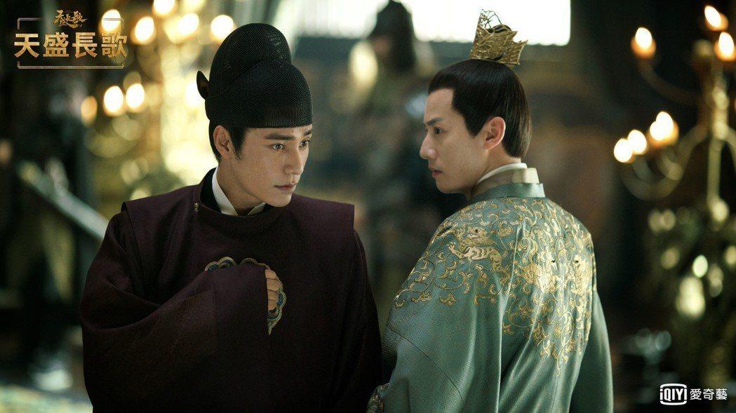 陳坤(左)在「天盛長歌」中上演「男版宮鬥」。圖/愛奇藝台灣站提供