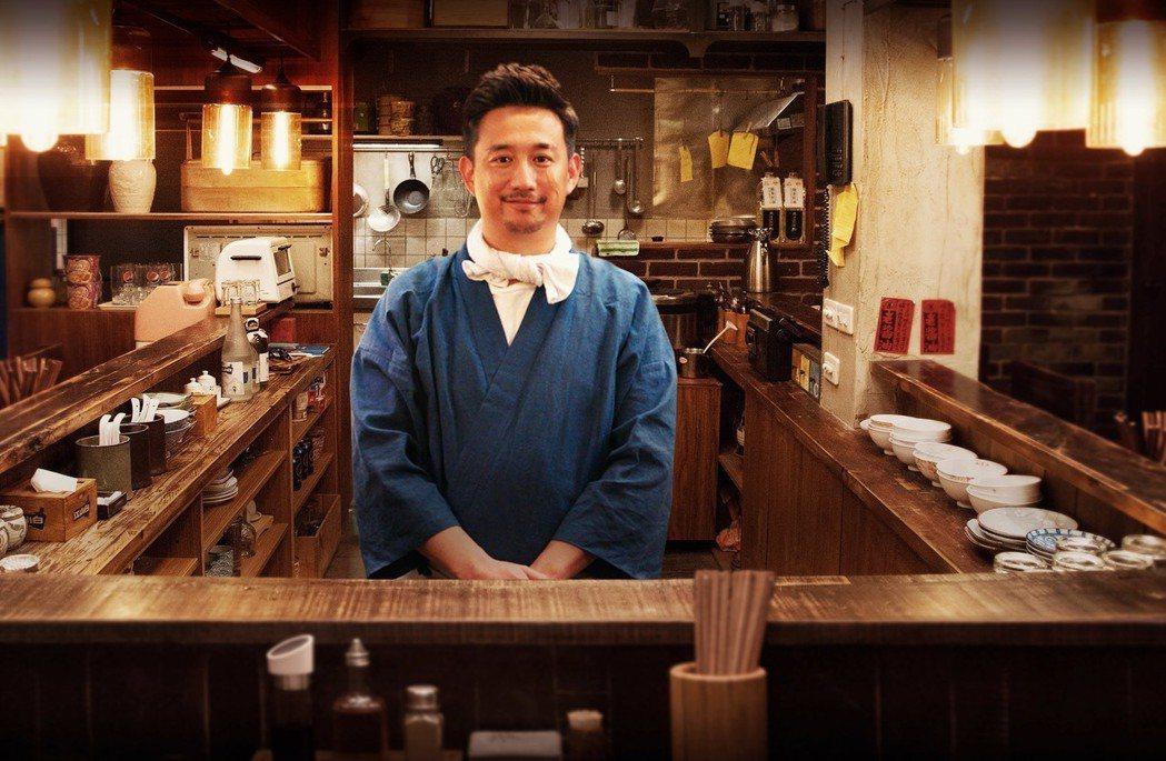 黃磊主演「深夜食堂」。圖/緯來戲劇台提供
