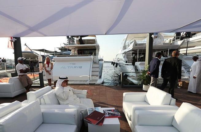 中東地區國家王室成員是超級遊艇主要客戶之一。 法新社