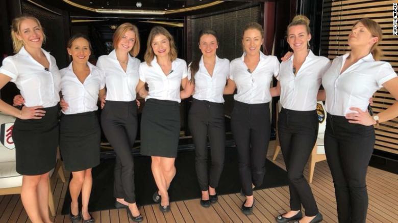 遊艇女管家有如空姐,通常對外表有一定要求。 圖/翻攝CNN