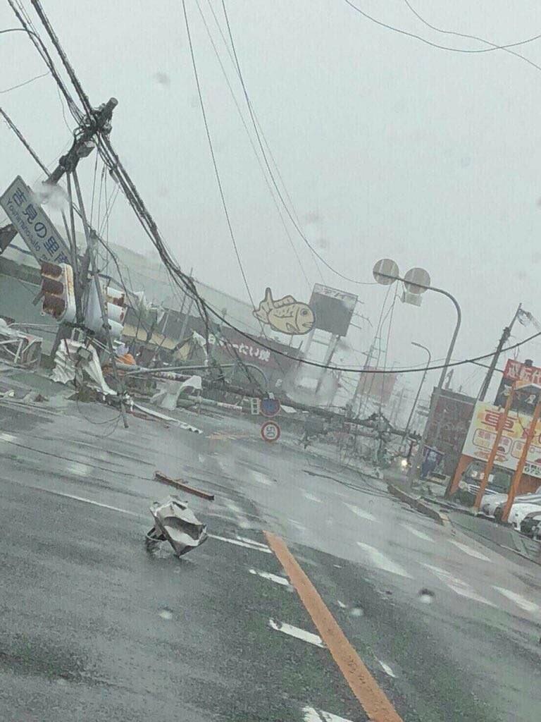 日本街頭滿目瘡痍。擷自推特
