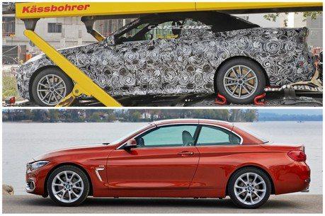 新世代BMW 4-Series Convertible首度捕獲 敞篷系列都改走軟頂路線?