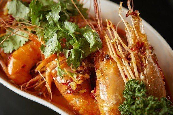 酸辣蝦充滿南洋泰式風味。