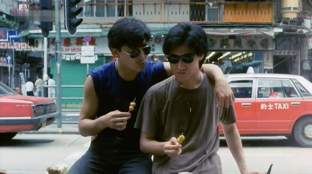 劉德華與張學友在「熱血男兒」對手戲頗為精彩。圖/摘自imdb