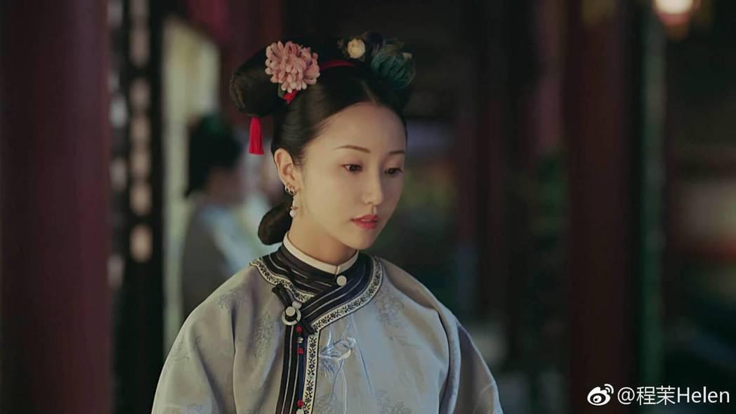 程茉在「延禧攻略」中飾演宮女「玉壺」。圖/摘自微博