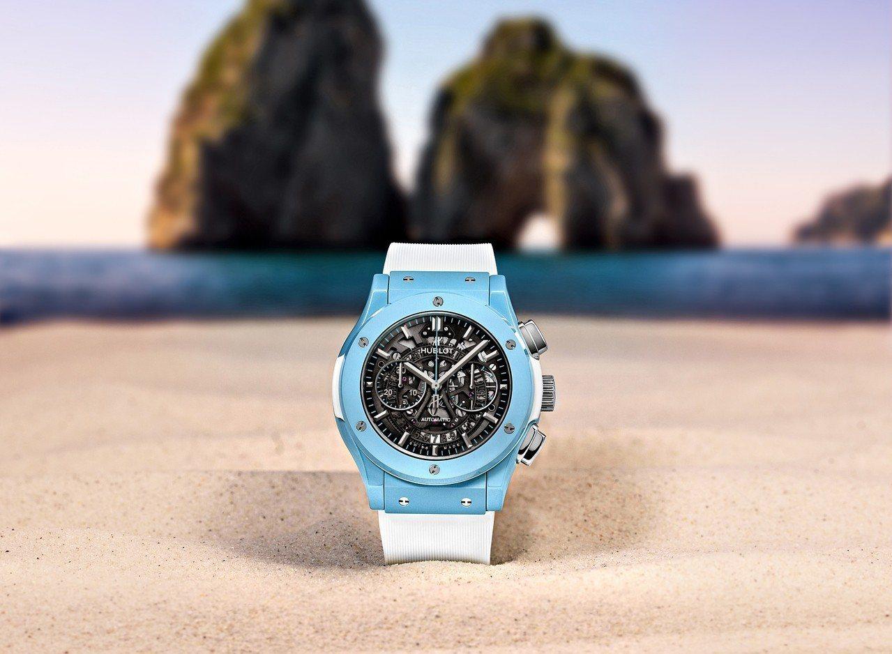 隐藏版更吸睛!宇舶表首创冰蓝色陶瓷腕表