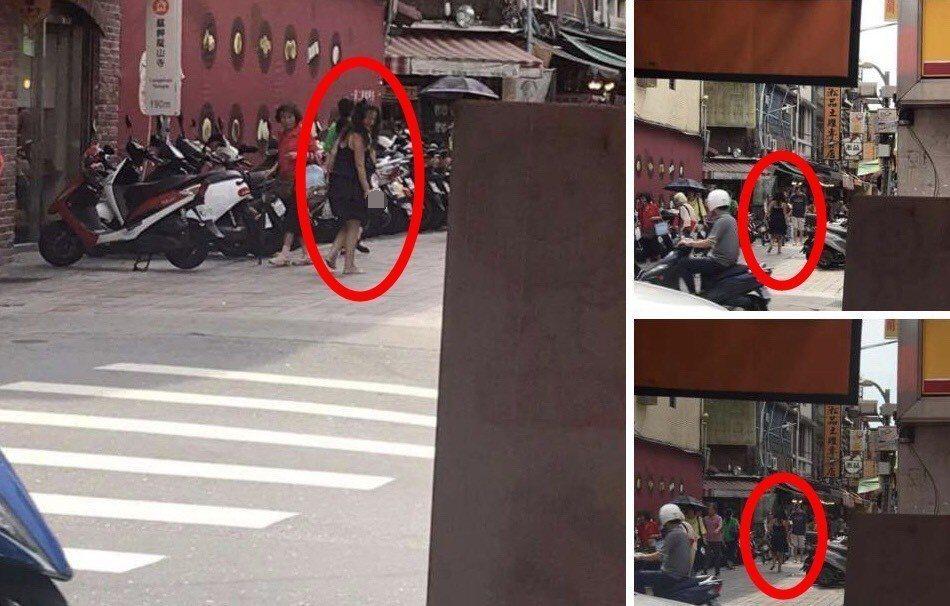 曾女身穿紫衣、手拿美工刀出現在康定路及艋舺公園一帶,警方獲報後在艋舺公園附近發現...