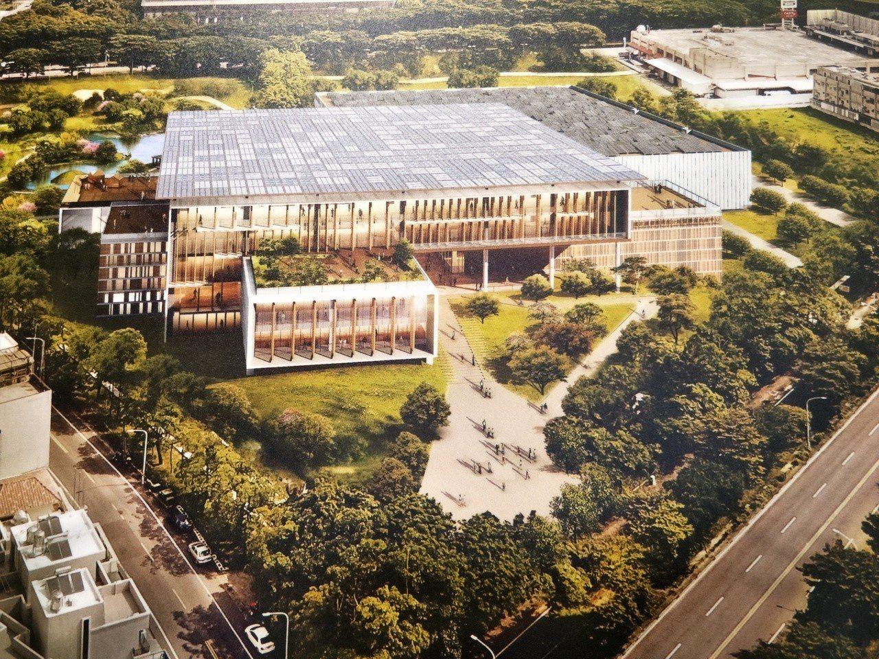 將落腳台南新營的國家圖書館南部分館造型首度曝光,預計民國111年啟用。記者謝進盛...