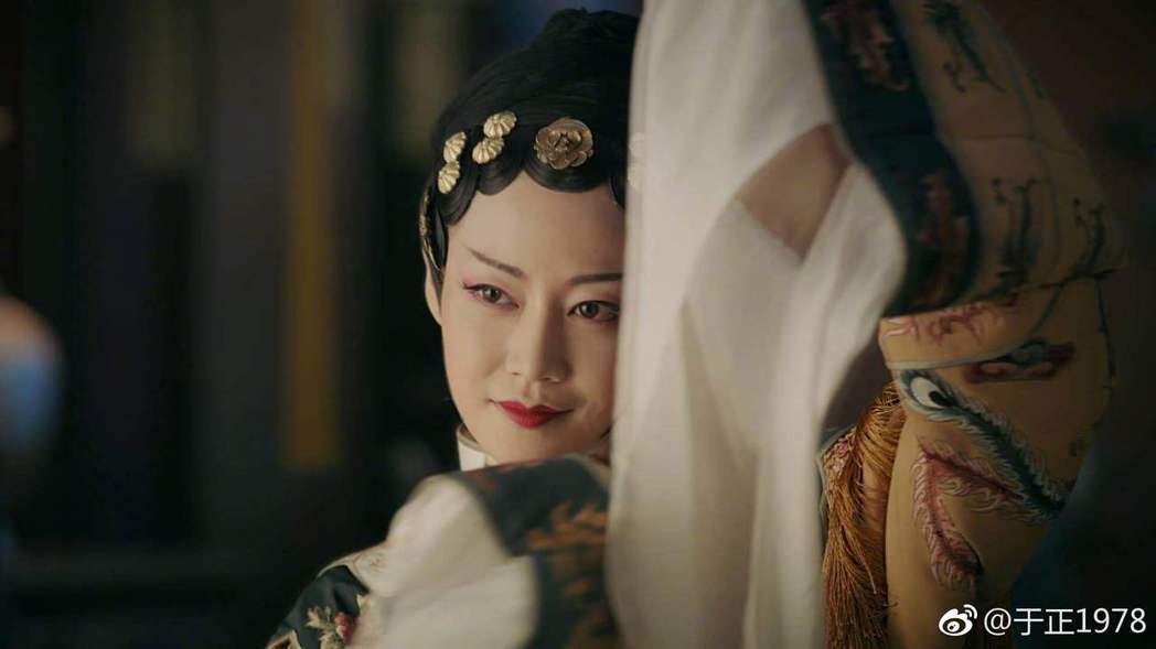 譚卓在「延禧攻略」中飾演「高貴妃」。圖/摘自微博