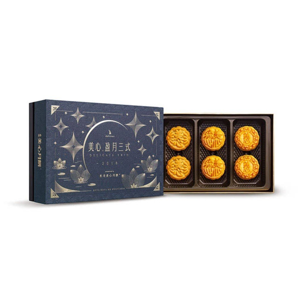 香港美心盈月三式流心系列月餅,促銷價2,519元。圖/momo購物網提供