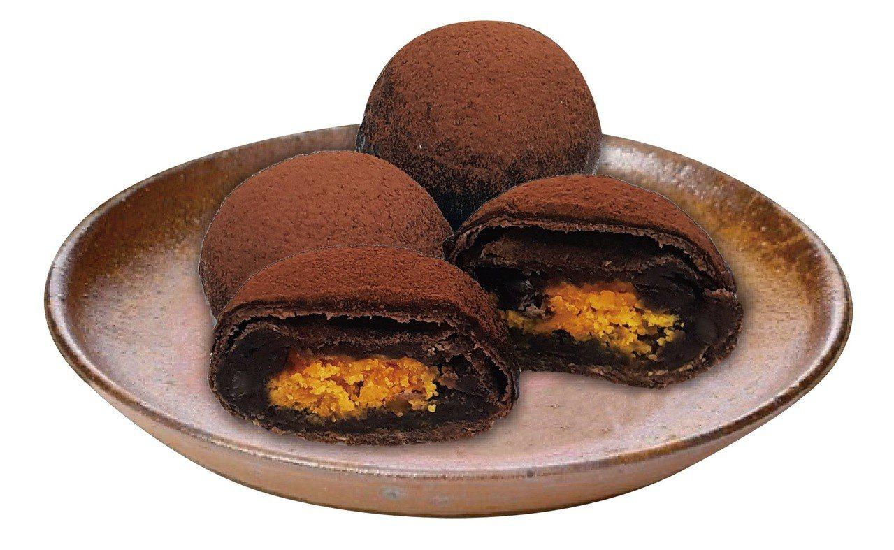 格麥蛋糕髒髒蛋黃酥9入,折扣價484元。圖/momo購物網提供