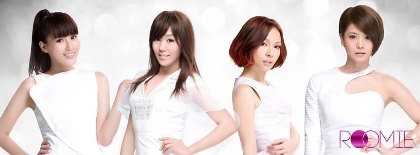 林珈安(右1)剛出道時是超短髮造型。圖/摘自臉書