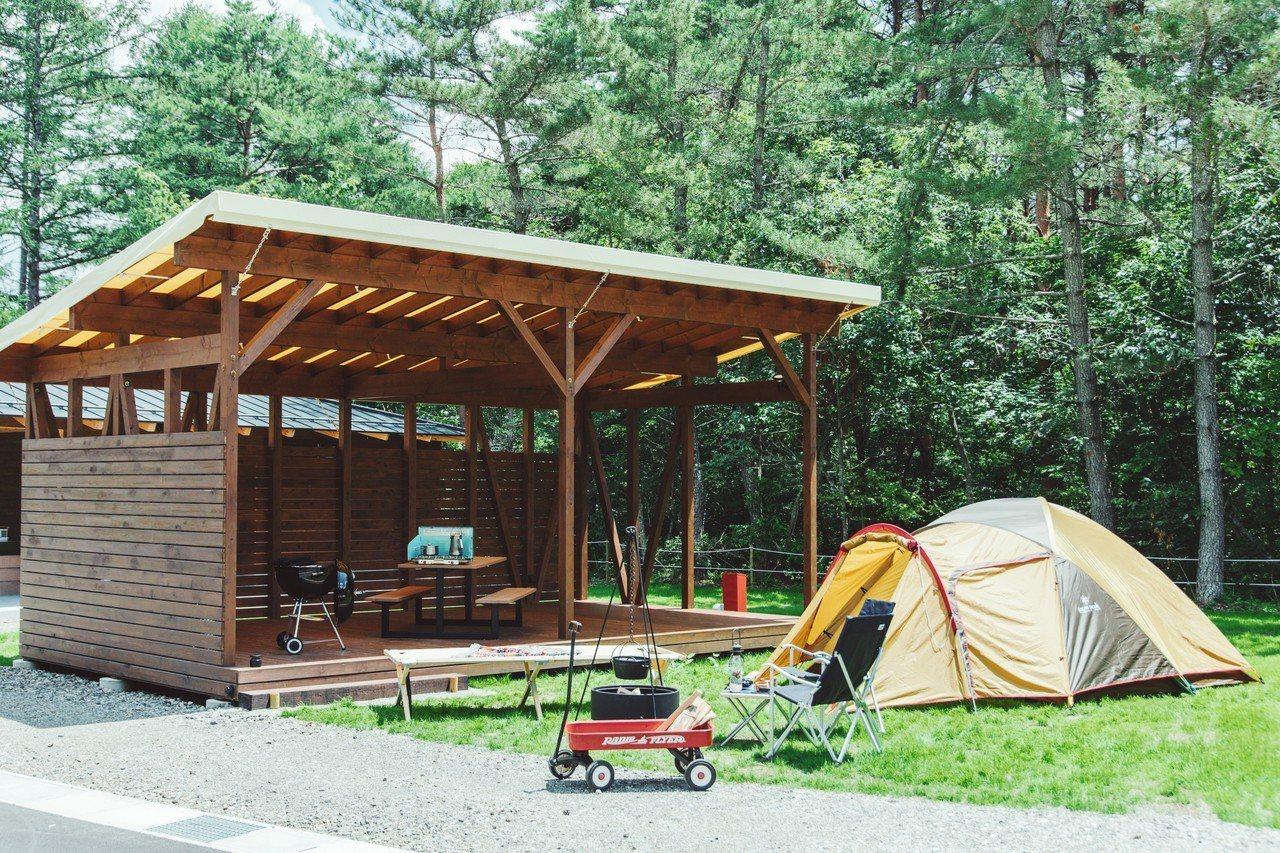 帳篷區寬敞舒適。圖/PICA Fujiyama提供