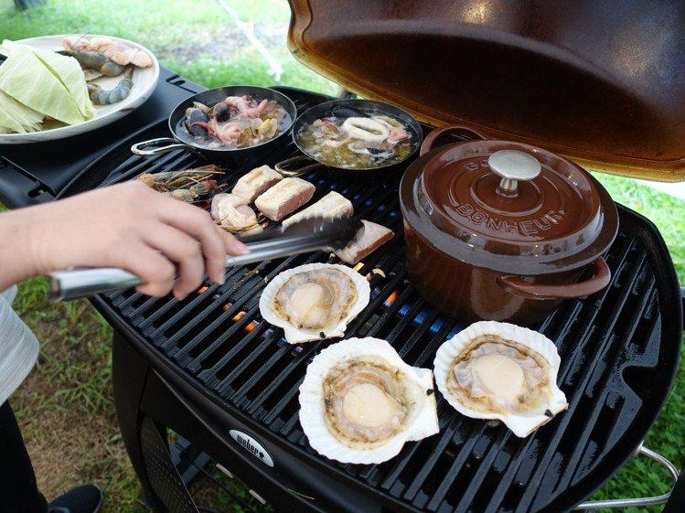 想烤肉不用自己準備食材、用具。記者張芳瑜/攝影