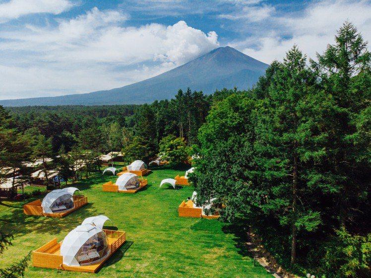 「神奇的圓頂」就落在富士山腳下。圖/PICA Fujiyama提供
