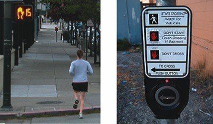 紐約行人穿越道按鈕,多半完全沒用。 圖/取自美國運輸部官網