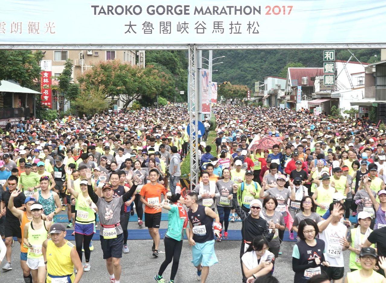 今年出現路跑退燒跡像,僅具指標性的花蓮太魯閣峽谷馬拉松、台北馬拉松較不受影響。圖...