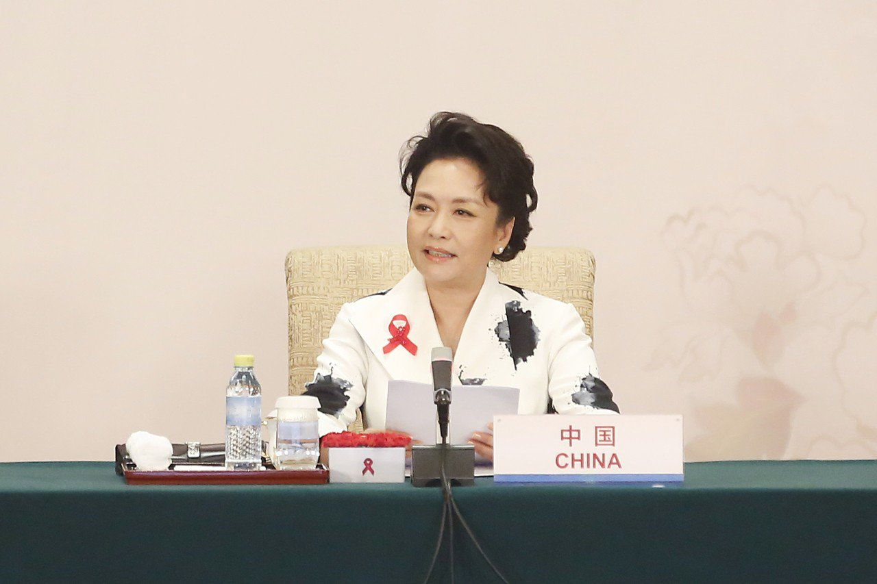 中國大陸國家主席習近平夫人彭麗媛。 中國新聞社