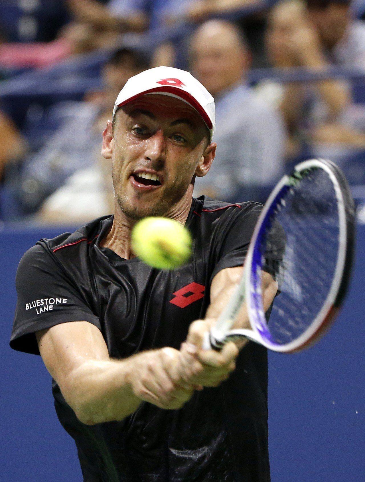 澳洲網球選手米爾曼(圖),4日在美國網球公開賽中擊敗費德瑞而一戰成名。 美聯社
