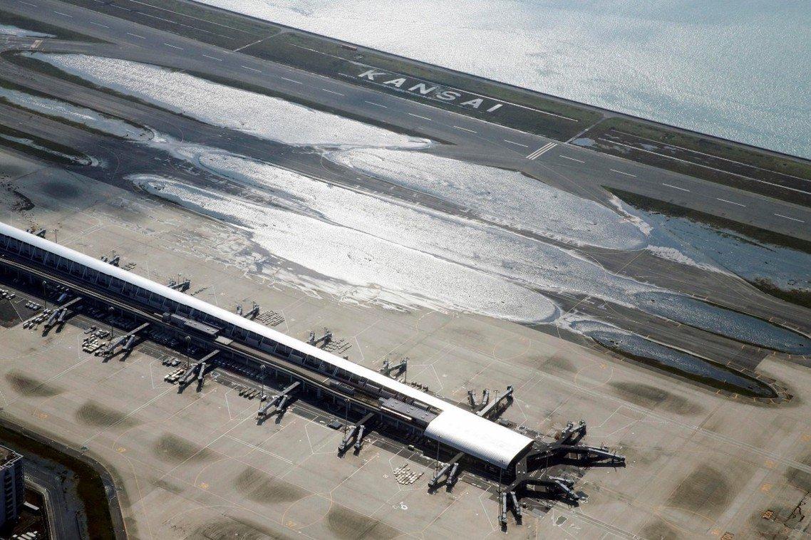 9月5日上午的關西空港。 圖/路透社