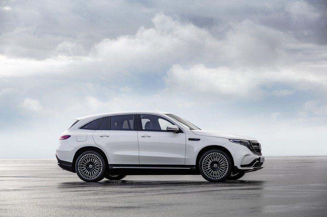 Mercedes-Benz EQC 400 4MATIC的身形大小與現行版GLC...