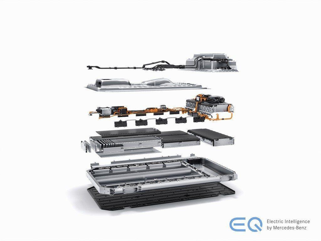 Mercedes-Benz EQC 400 4MATIC所搭載的80kWh鋰電池組,擁有最大續航距離至少450km的水準。 摘自Mercedes-Benz