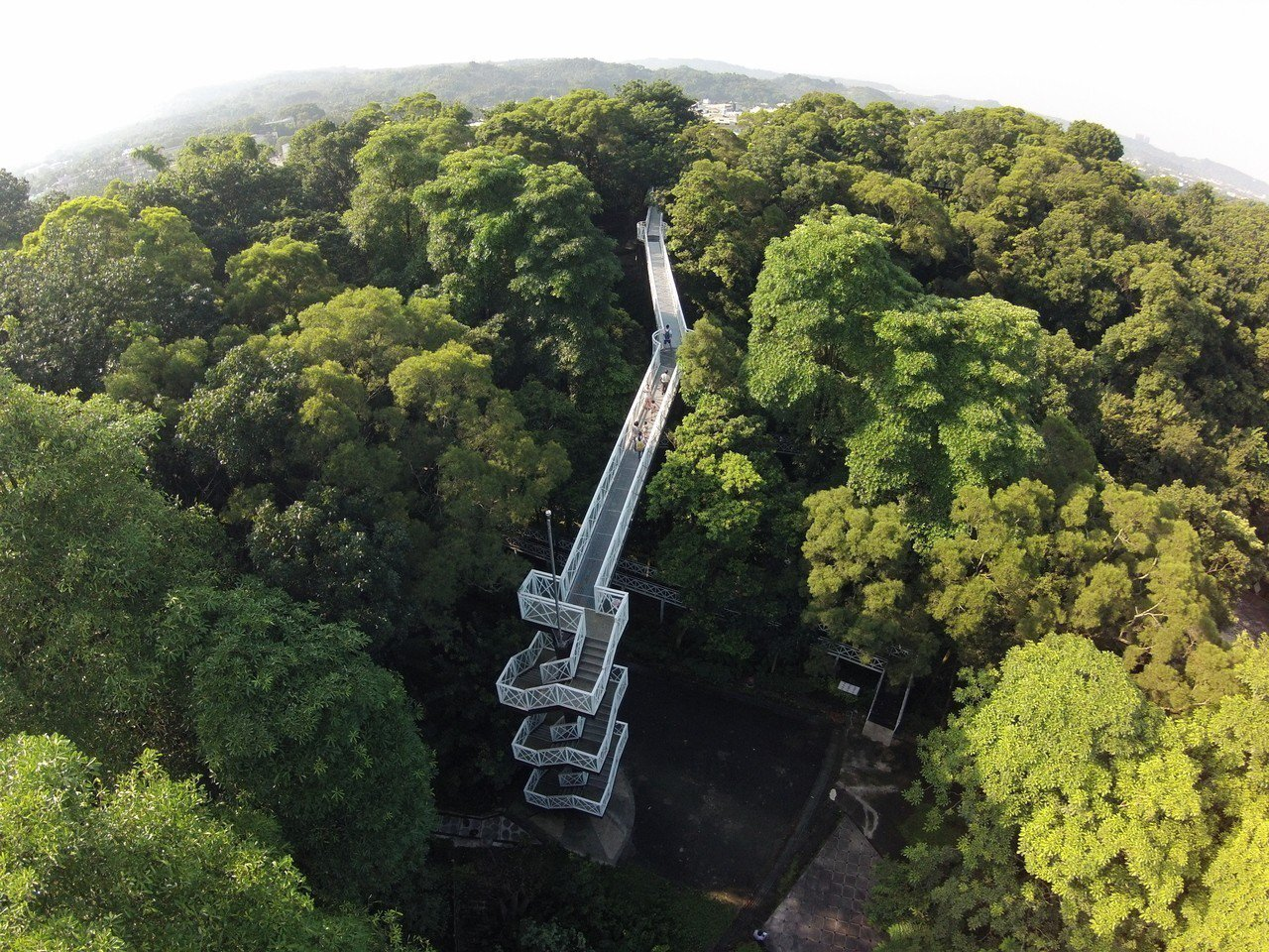 竹崎公園天空走廊。