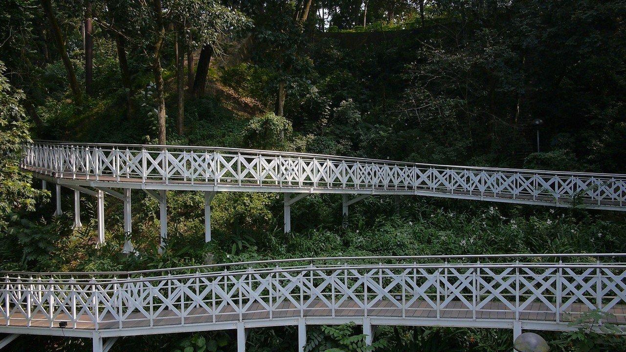 竹崎公園花仙子步道。