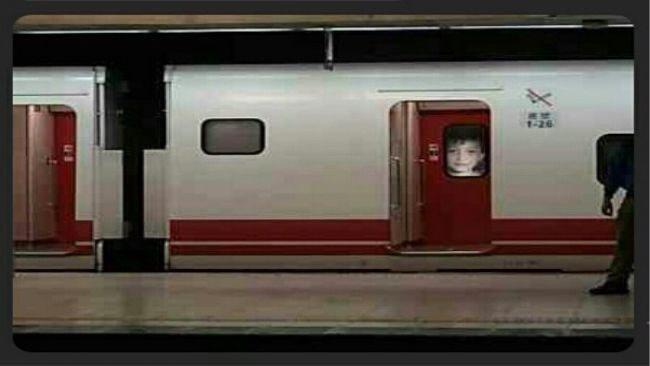鬼月台鐵有乘客驚見男童臉 圖片來源/ptt