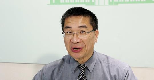 內政部長徐國勇去年因誤食姑婆芋中毒,導致嘴唇發腫 圖片來源/聯合報系