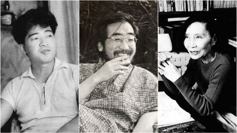 左起:安部公房、後藤明生及林京子。 圖/取自twitter、wiki及日本図書セ...