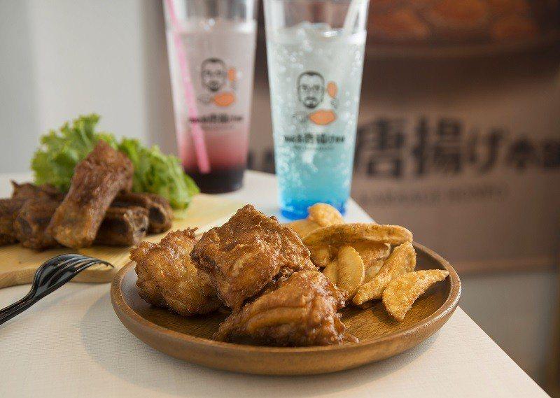 MAR桑炸雞腿塊150元(前)/使用雲林氣冷雞,口感Q彈多汁,套餐可選擇淋醬口味...