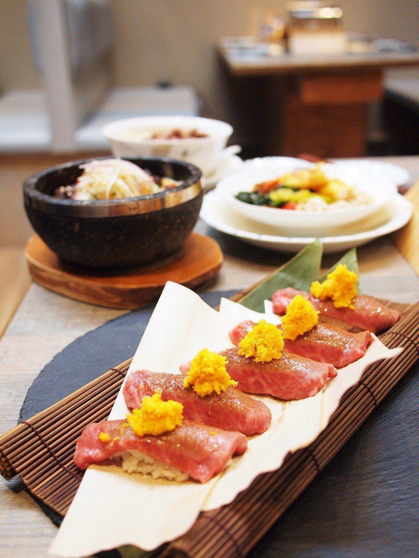 (圖/台灣旅行趣) ▲主食系列除了當燒肉的附餐外,時間有限時,單純來享用這些和牛...