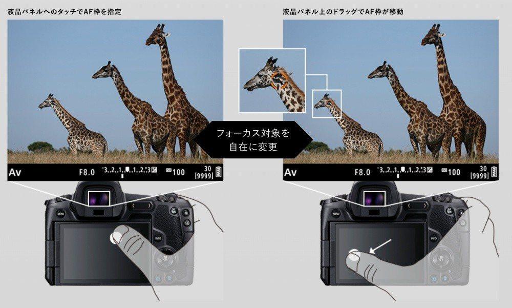 可直接透過螢幕觸控方式決定對焦位置