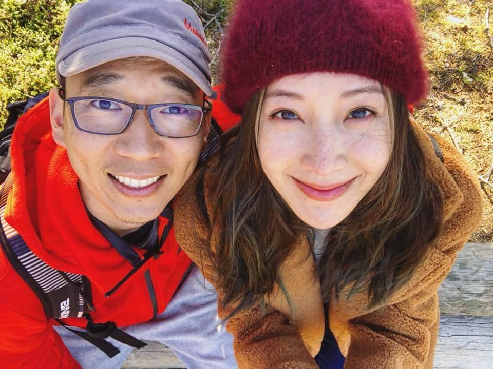隋棠夫妻到荷蘭看極光。圖/摘自臉書