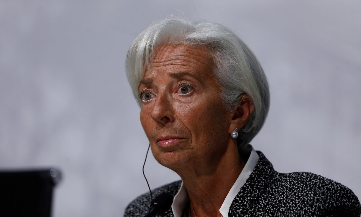 近年來多次對全球經濟風險提出警告的國際貨幣基金(IMF)總裁拉加德(Christ...
